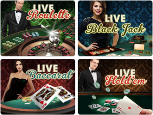 Olika spel i live dealer casinot hos Mr Green