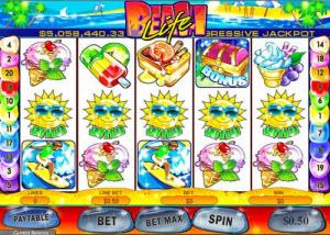 Beach Life spelautomat med jackpott