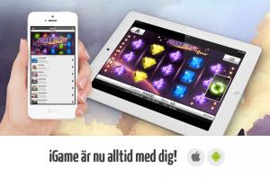iGame mobilcasino för iPhone, iPad och Android