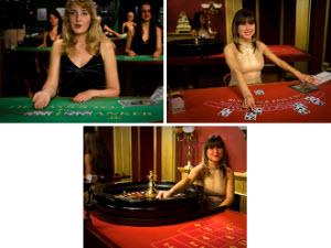 Live dealer casino med blackjack, roulette och baccarat