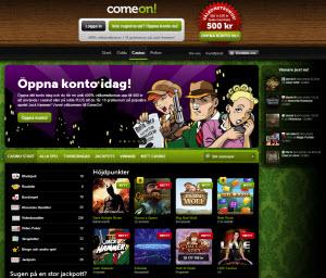 Comeon Casino sajt