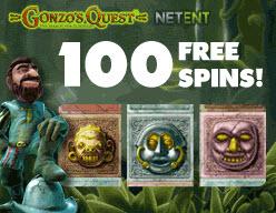 100 free spins på Gonzos Quest