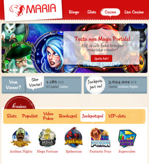 Maria casino sajt
