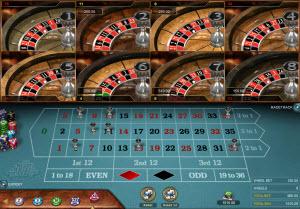 Multi Wheel Roulette från Microgaming - spela med hela åtta hjul