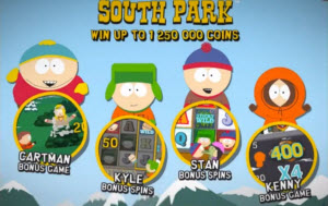 South Park bonusbanor och freespins