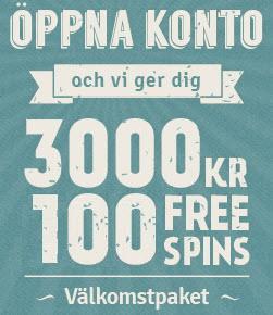 Thrills bonus - 3000 kr och 100 free spins