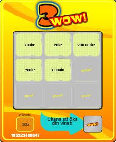 Exempel på en skraplott på nätet - 3WOW