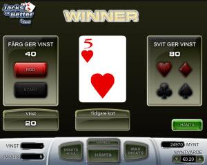 Gamble-funktionen i videopoker