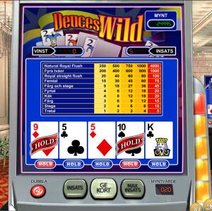 Spela Deuces Wild Videopoker Online på Casino.com Sverige