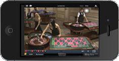 Live dealer casino på iPhone