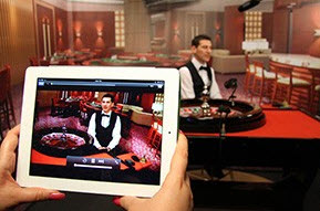 Live dealer casino på iPad