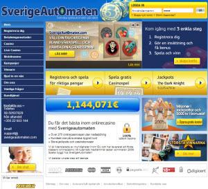 Sverigeautomaten sajt