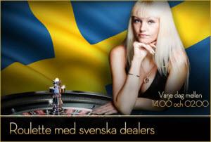 Svenska live dealers hos Sverigeautomaten