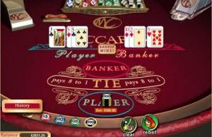 Kortspelet Baccarat på ett casino online