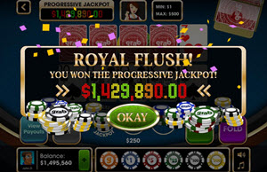 Caribbean Stud Poker jackpott