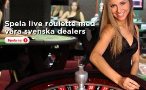 Spela live roulette med svenska dealers