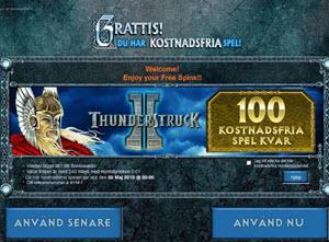 100 free spins thunderstruck