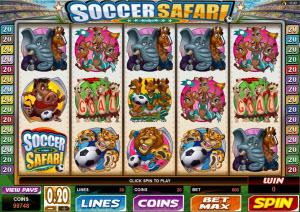 Soccer safari spelautomat