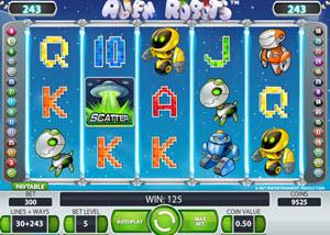 alien robots spelautomat