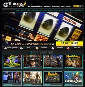 Gorilla Casino front Casinoguide