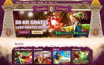Simba Games front