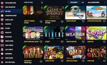 10bet Casino spelutbud
