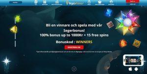 Spela och vinn med segerbonus hos VegasWinner