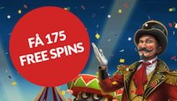 Guts 175 free spins