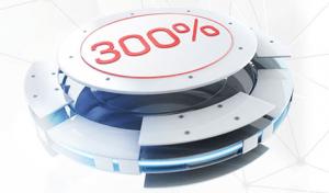 Valkomstbonus casino Betfair 300%