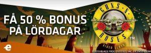 Spela med bonus varje lördag hos Expekt casino
