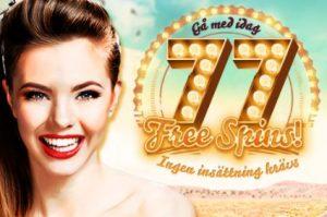 Spela gratis med free spinspå 777 Casino