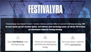 Spela i festivalyran och vinn kontanter, free spins och belöningar hos Kaboo