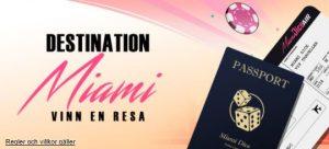 Miami Dice lottar ut resa varje månad