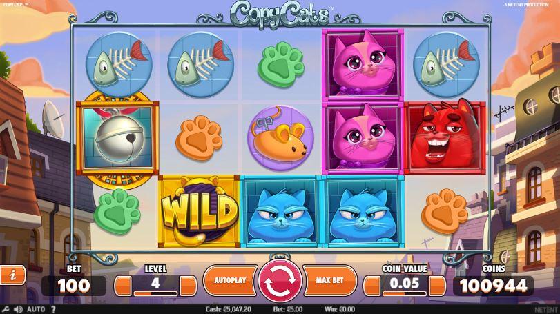 Copy cats är den nya färgsprakande spelautomaten från svenska NetEnt