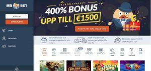 Spela med 15 000 kr i bonus hos MrBet