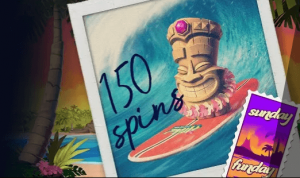Go Wild casino Sunday Funday 150 freespins