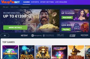 Vulkanbet Casino startsida