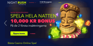 Nightrush Casino startsida