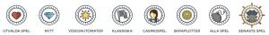 Piratespin casino ikoner spelkategorier