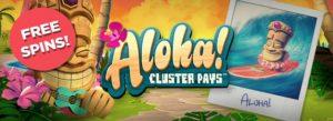 Aloha! Cluster Pays spelautomat och free spins