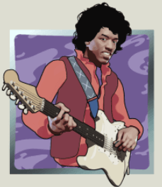 Jimi Hendrix slotsrecension symbol Purple Haze