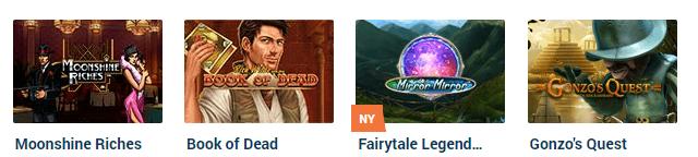 NordicBet spelutbud slots