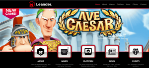 Leander Games startsida