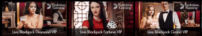 Casinoguide VIP live blackjack Evolution