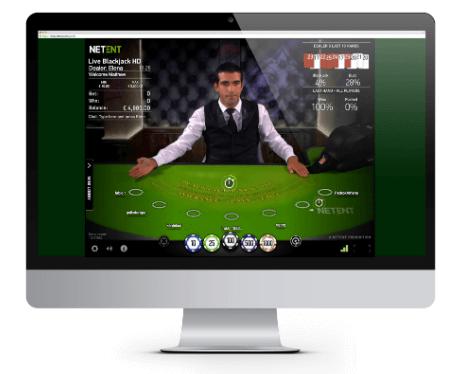 RTP Blackjack Netent-bord live