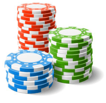 Three card poker chips