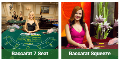 Baccarat live dealers playtech